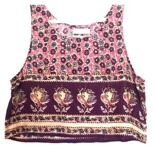 Urban Outfitters Cropped Tank Top Sz Med